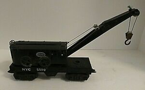 MARX Trains  New York Central Deluxe 8 wheel Crane Car #5590 O Scale intact