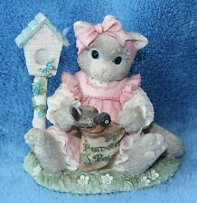 "Enesco Corp. Calico Kittens ""You're My Feathered Friend Forever"" #6C2/992"