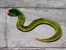 PETIT SERPENT EN VERRE SOUFFLE LONG 9 CM SCULPTURE ANIMALIERE DECO