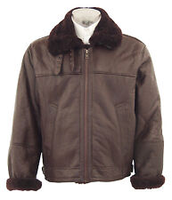 B3 Bomber Military Style Jacket with Real Sheep Fur