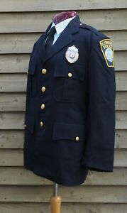 1970s Vintage - Town of Plymouth Massachusetts - Police Officers Uniform Jacket