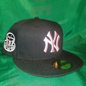 New Era Black New York Yankees On-Field 1952 World Series Patch Pink UV Fitted