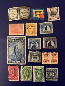 S6/22 US Stamp revenue BOB Seals 1862- 15 M/UH/NH Nice Coll