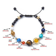 Universe Solar System Galaxy Eight Planet Bracelets Guardian Star Cuff Bangle