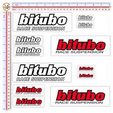 sticker bitubo adesivi moto sponsor helmet print pvc 12 pz.