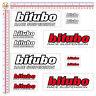 Adesivi bitubo sticker moto sponsor ammortizzatori print pvc 12 pz.