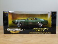 American Muscle Ertl Collectibles 1973 Mustang Mach 1 Limited Edition Green 1:18