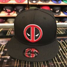 New Era Deadpool Snapback Hat All Black/Red