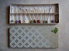 Set 12 Forchettine da Antipasto con Pietre Multicolori (Made in Brazil)