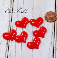16pcs 22mm Red Valentine Heart Flatback Resin Cabochons Diy Phone case Deco