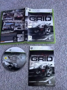 / XBOX 360 GAME_RACEDRIVER GRID + MANUAL