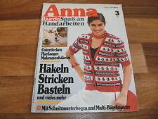 ANNA 3/1981 -- LEHRGANG: MAKRAMEEHÄKELEI / OSTERDECKEN/Gestickte Puszta-Folklore