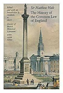 History of the Common Law of England Hardcover Sir Matthew Hale