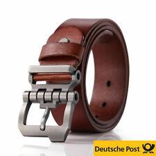 Gürtel Herren Ledergürtel für Männer Jeans Echtleder Business Anzug Dornschließe