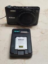 Nikon COOLPIX S7000 16.0MP 20X Wide Optical Zoom Digital Camera Black Works