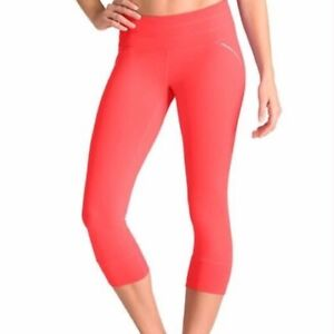 ATHLETA Relay Capri Crop Leggings Neon Orange L