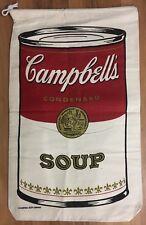 Andy Warhol VTG Vintage Campbells Soup Canvas Laundry Bag Sack Art Artwork Print