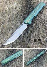 WE Knife 710F Bohler M390 Steel Titanium Handle Folding Knife