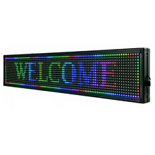 40x8 Full Color P10 Led Sign Scrolling Message Display Business Signs Program