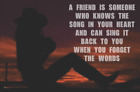 A Friend Knows The Song Mini Poster -  17.5x11.5 Laminated