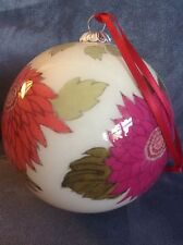Vera Bradley Glass Ornament 2010 Hello Dahlia! - Rare - Brand New In Box