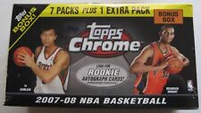 2007 - 08 TOPPS CHROME BASKETBALL BOX ~ POSS KEVIN DURANT RC REFRACTOR