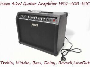 Haze 40W Guitar Amplifier.Treble,Middle,Bass,MIC. Input,Headphone Output 40R-MIC