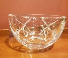 """Waterford 3.5"""" x 6"""" JOHN ROCHA CRYSTAL Nuts/ Fruit Bowl Marked"""