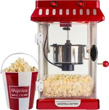 Andrew James Popcorn Maker Machine Retro Hot Air Popper Electric Kettle 4 Bucket