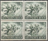 Stamp Germany Mi 833 Sc B220 Block 1943 WW2 3rd Reich Wehrmacht Motorcycle MNH