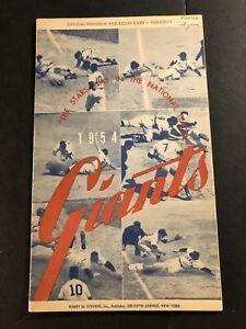 1954 NEW YORK GIANTS vs PHILADELPHIA PHILLIES Willie MAYS Al DARK Richie ASHBURN