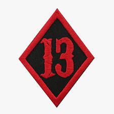 Number 13 Diamond Motorcycle Biker Vest Patch