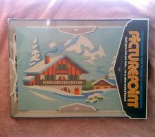 Vintage Picturepoint Yarn Picture Kit Winter Wonderland 1983 Sealed