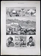 SCENES OF THE SECOND ANGLO-AFGHAN WAR AFGHANISTAN VICTORIAN MILITARY PRINT 1879