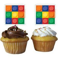 BLOCK PARTY CAKE TOPPERS / CUPCAKE PICKS CAKE DECORATIONS PK/12