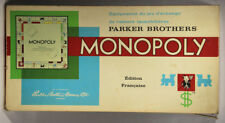 L001779 Game Board / Monopoly FRENCH 1961 Copyright / COMPLETE / Parker Brothers