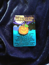 Metal Halloween Jack O Lantern Pumpkin Pin Brooch with Legend Card