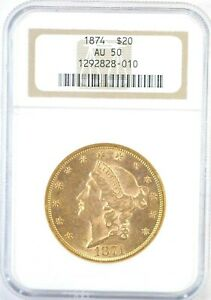 """1874 P Gold Liberty Double Eagle, """"Stunning"""" $1.00 Start Bid and No Reserve"""