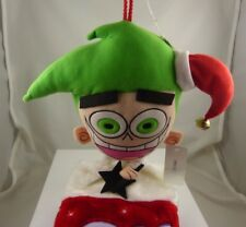 Cosmo from Fairly Odd Parents Christmas stocking cosmos Rare Poof