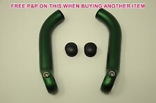 """PAIR """"FOREST GREEN"""" TRANS X FORGED ALLOY SKI TYPE BEND BAR ENDS HIGH QUALITY"""
