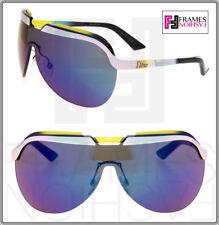 4668ccf0d95b CHRISTIAN DIOR SOLAR Yellow Pink Purple Mirrored Metal Shield Sunglasses  Unisex