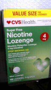 CVS Health Sugar Free Nicotine Lozenge 4 mg 168 Pieces Mint, Read Date Desc