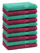 Betz 10 Stück Seiftücher Seiflappen Seiftuch PREMIUM 30x30 dunkelrot&smaragdgrün