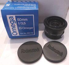 Omega Rodenstock 50mm f/1:3,5 El-Omegar Enlarging Lens 455-110 +Original Box
