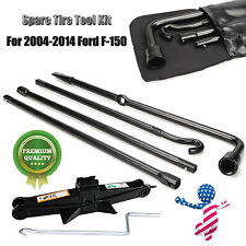 Spare Tire Tools Kit Scissor Jack+ Lug Wrench For 04-14 Ford F-150 NEW FREE SHIP