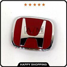 Jdm Red H Type R Front Rear Emblem J01 For Honda Civic 2dr 4dr Sedan Accord Crv Fits 2012 Honda Civic