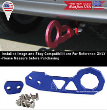 Aluminum Anodized Billet Blue Rear Bumper Tow Hook Towing Kit For Honda Acura