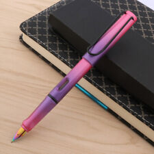 Pink purple colour Gradient shell luxurious schoolhouse EF Writing Fountain Pen
