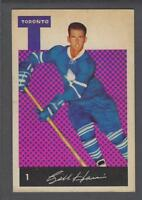 1962-63 Parkhurst Toronto Maple Leafs Hockey Card #1 Billy Harris