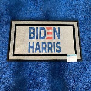 """Beautiful BIDEN HARRIS Democrat Heavy Duty Rubber Backed Door mat  Big 30"""" x 18"""""""